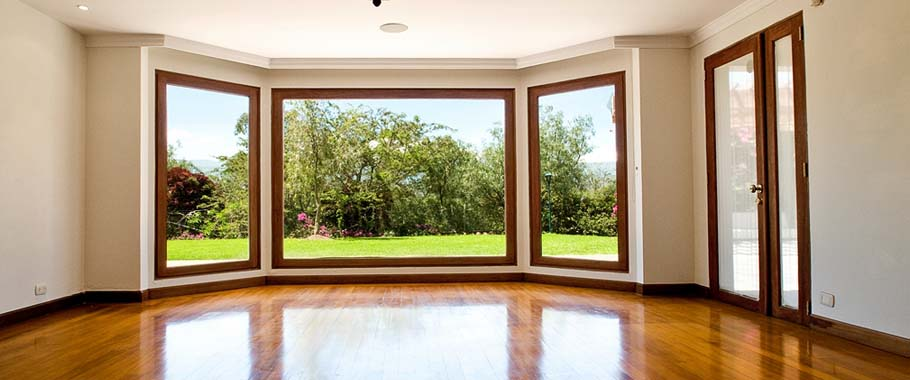 Large open area with glass windows